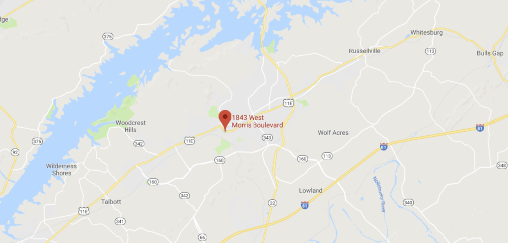 Map of Center For Wellness in Morristown, TN