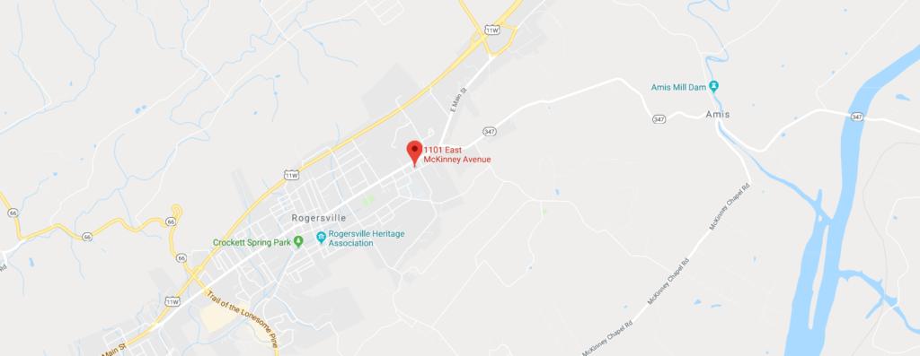 Map of Center For Wellness in Rogersville, TN
