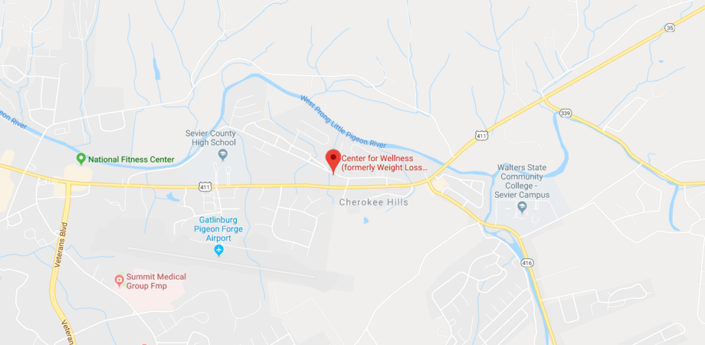 Map of Center For Wellness in Sevierville, TN
